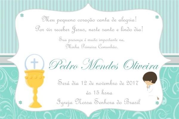 Convite primeira comunhão