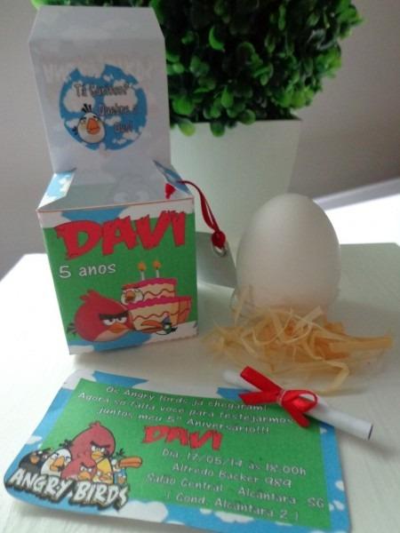 Convite quebre o ovo angry birds001 no elo7