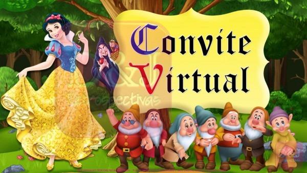 Convite virtual branca de neve no elo7