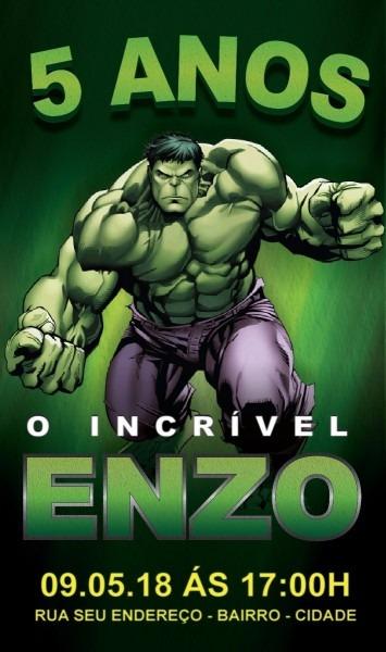 Convite virtual hulk