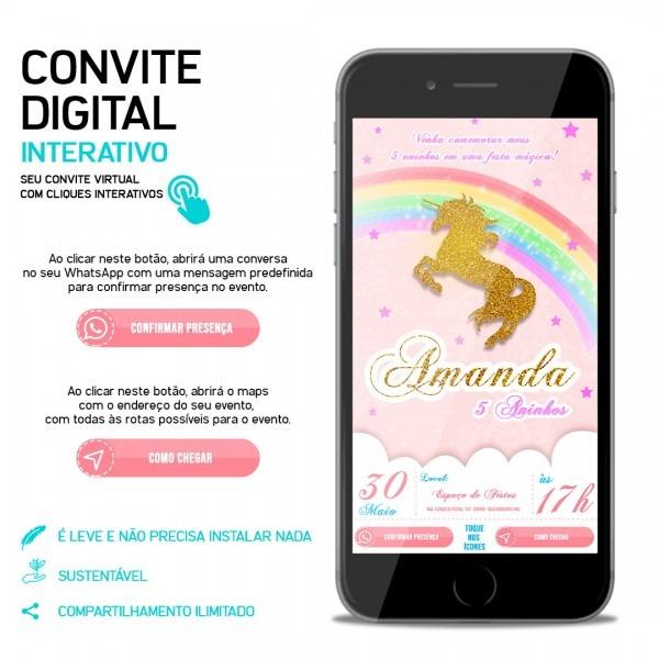 Convite virtual interativo
