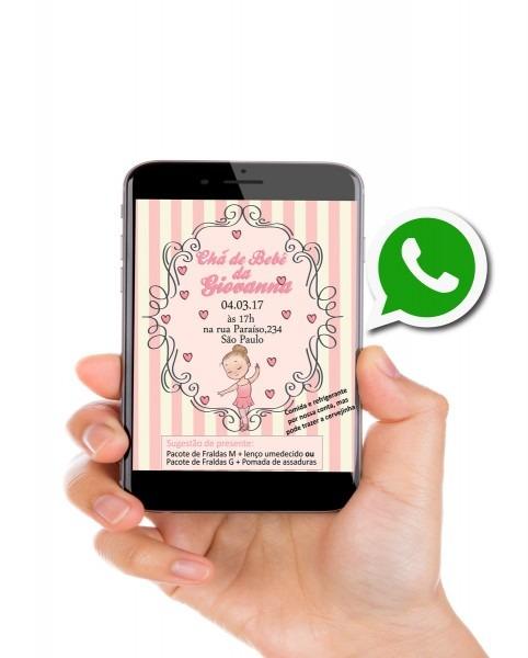 Convite virtual chá de bebê no elo7