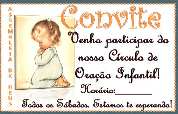 Ebd cordeirinhos de cristo  convite círculo de oração infantil