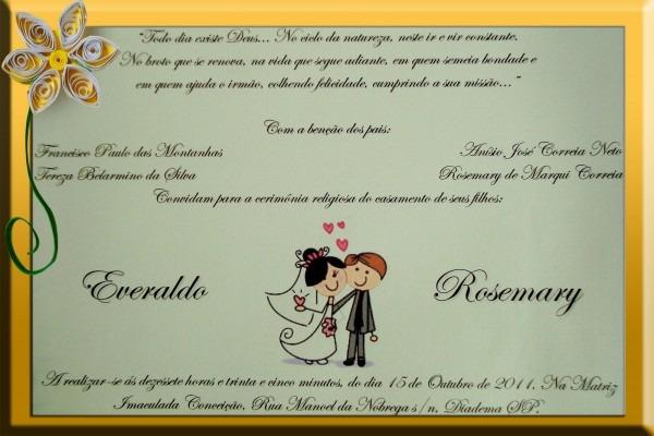 O casamento é nosso!  meu casamento