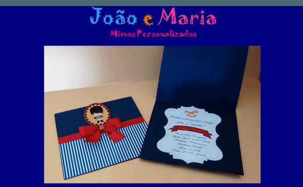 João e maria mimos personalizados  convite soldadinho de chumbo