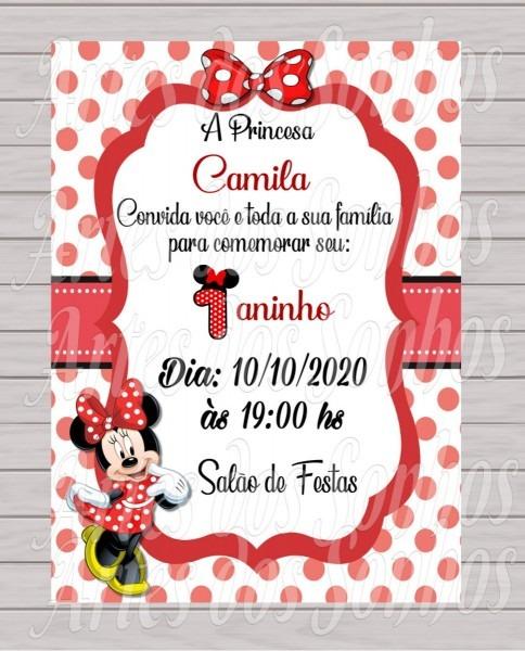 Convites de aniversário minnie vermelha no elo7