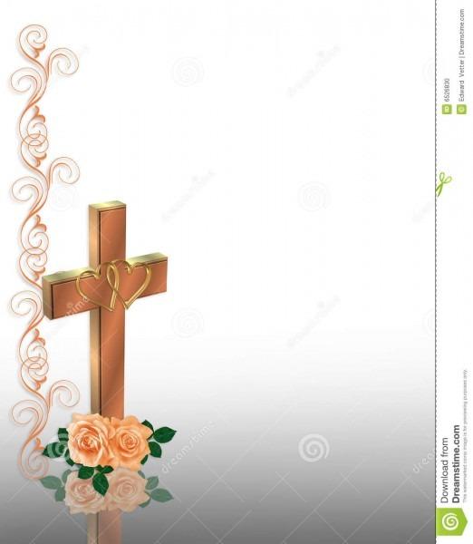 Cruz do cristão do convite do casamento ilustração stock
