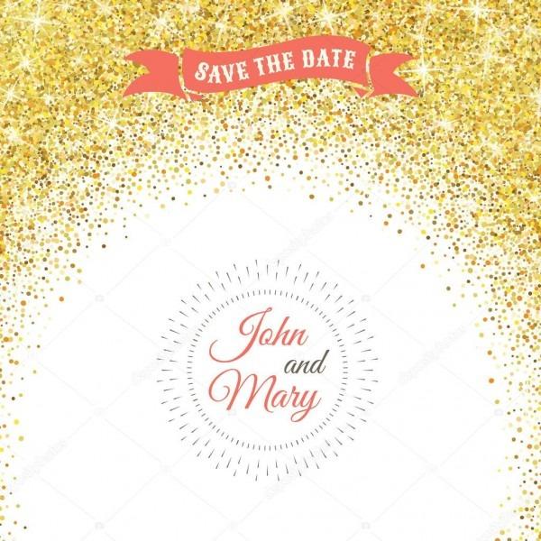 Modelo de casamento perfeito com o tema de confete dourado