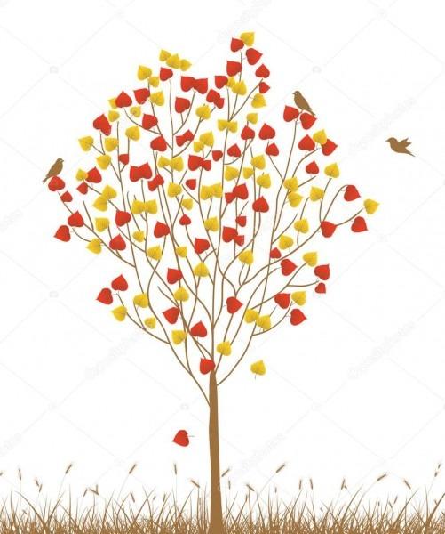 Cartão de convite de casamento com árvore — vetor de stock