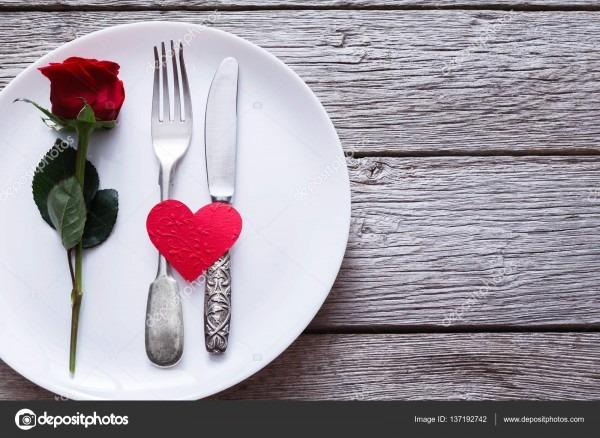 Conceito de jantar romântico  fundo de proposta ou dia dos
