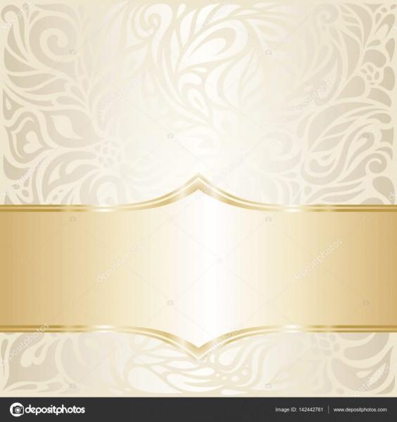 Projeto de papel de parede de convite de casamento floral em linho