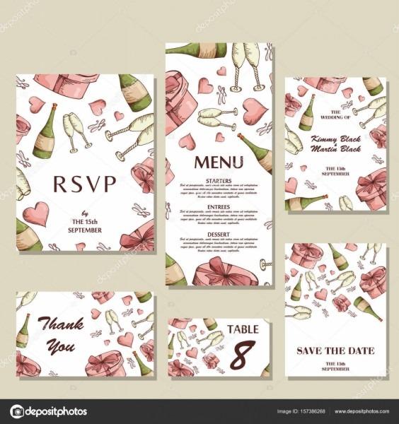Modelo de convite de casamento com conceito individual  design
