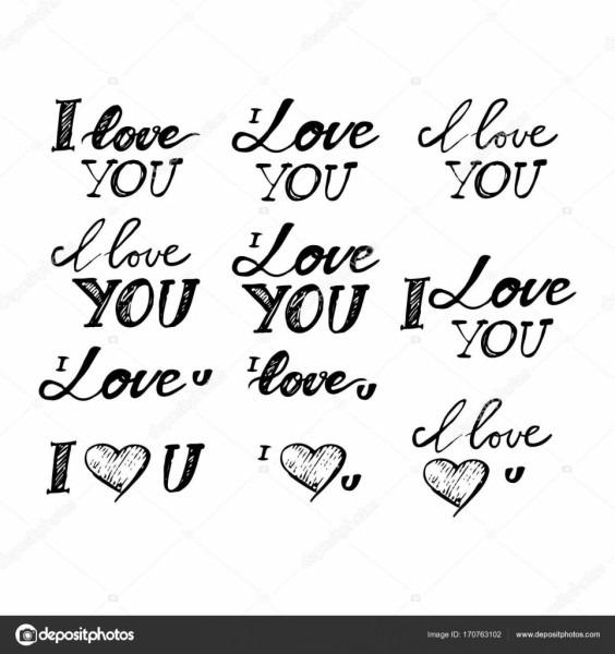 Eu te amo  tipografia letras e personalizada para seus projetos de