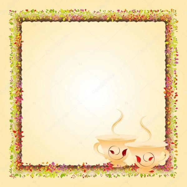 Cartão do convite do partido de tempo de chá da tarde verão