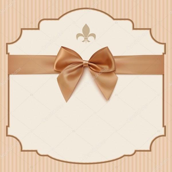 Bowwedding cartão de convite  modelo de cartão de saudação vintage