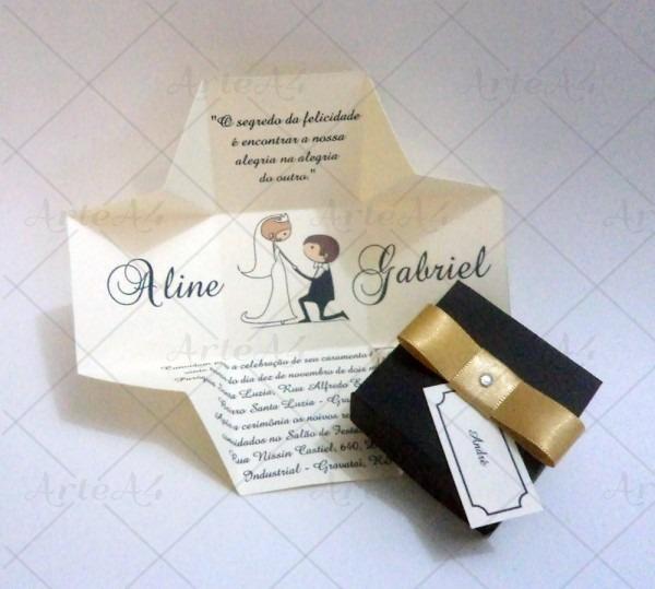 A beleza dos convites de casamento em caixinha