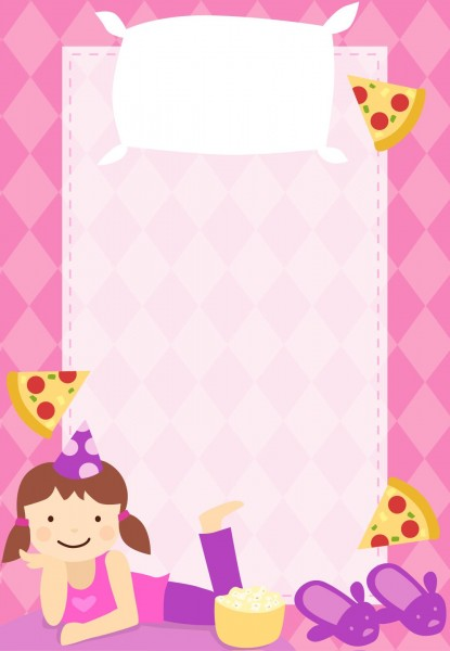 Free printable sleepover party invitation customizable too