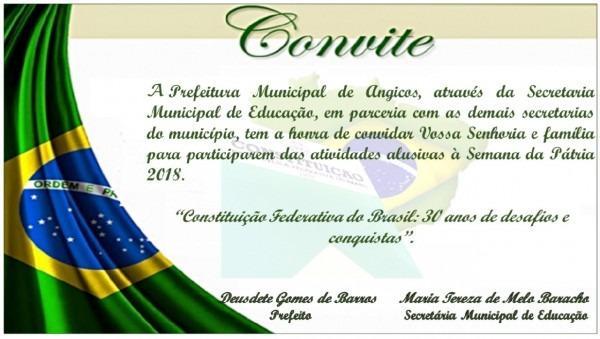 Prefeitura de angicos divulga programação oficial da semana da