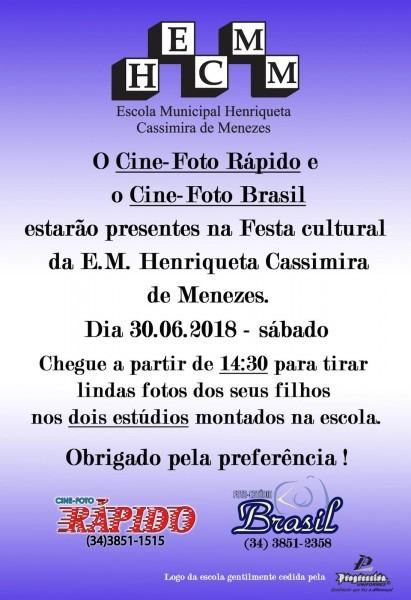 Festa cultural henriqueta 2018  convite