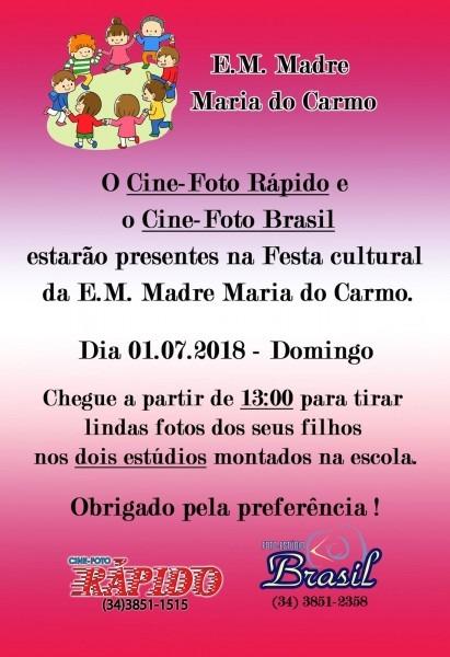 Festa cultural e m madre maria do carmo  convite