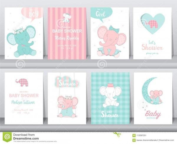 Grupo de cartões dos convites da festa do bebê, cartão de