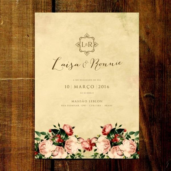 Inspirador impress o de convites casamento curitiba convite