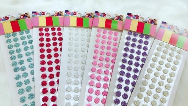 Kit 10 cartelas adesivo strass rosa convite decoração