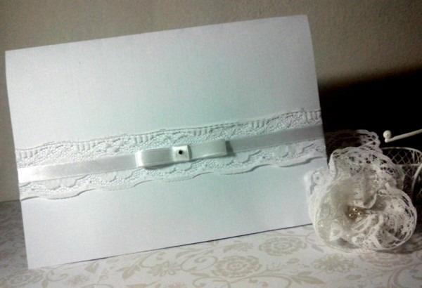 Fotos como fazer convite de casamento com la o chanel envelope