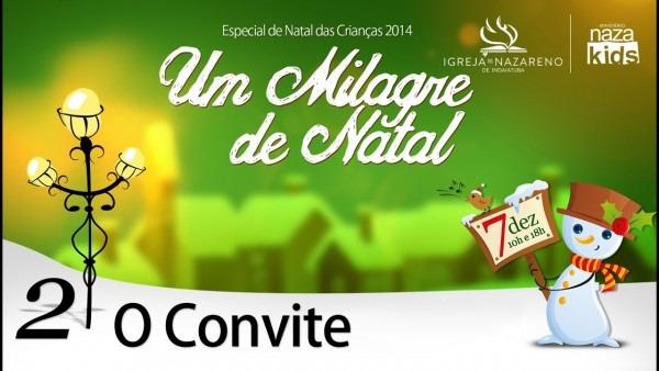 Cantata milagre de natal 2014