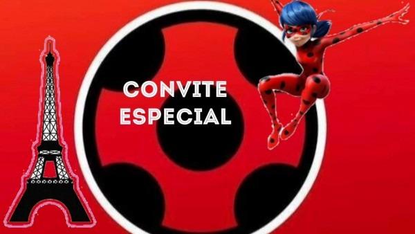 Convite animado ladybug pronto para baixar e editar