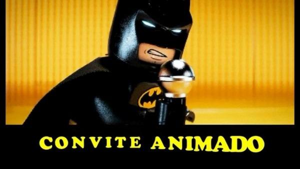 Convite animado lego batman