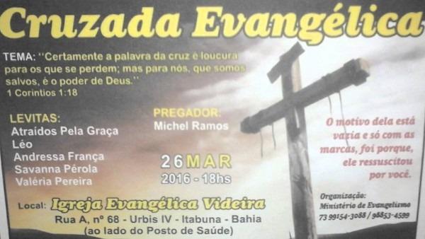 Chamada para cruzada evangelistica