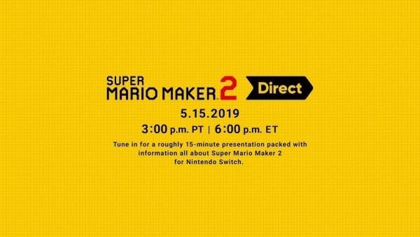 Super mario maker 2 direct 15 5 2019