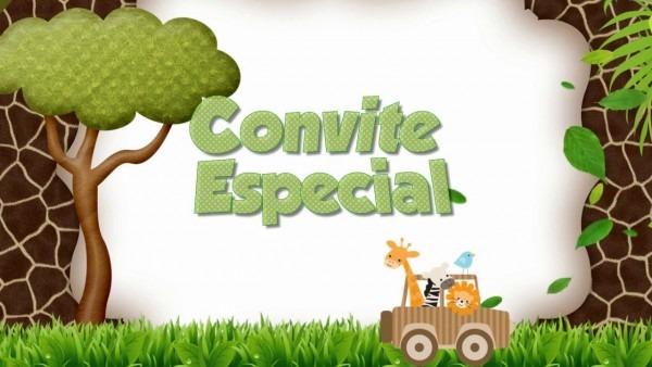 Convite virtual safari