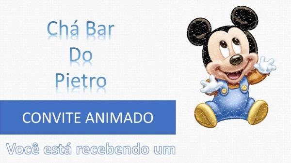 Convite virtual mickey baby chá bar