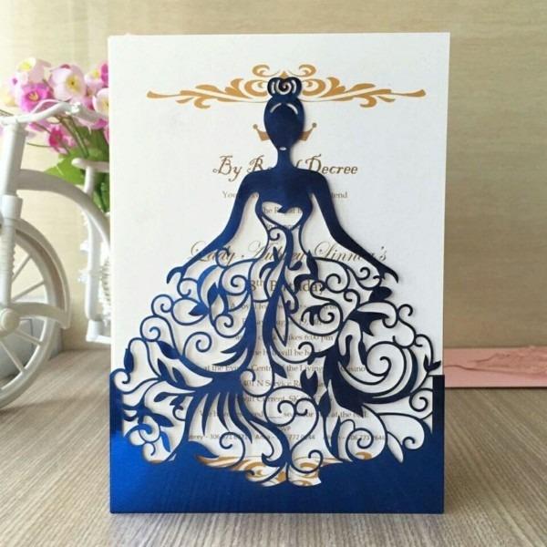 Molde scrapbook silhouette convite 15 anos vestido vazado