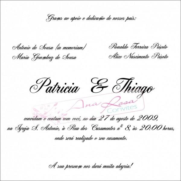 Imagens de texto convite casamento in memorian etiqueta convites