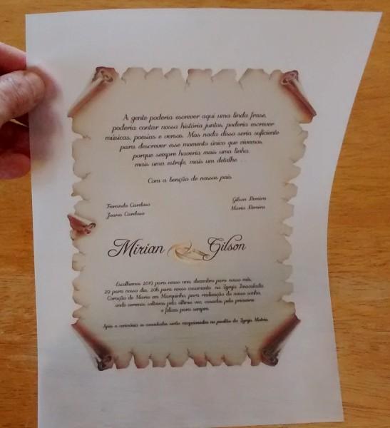 Papel vegetal 90g para convite de casamento a4 100 folhas