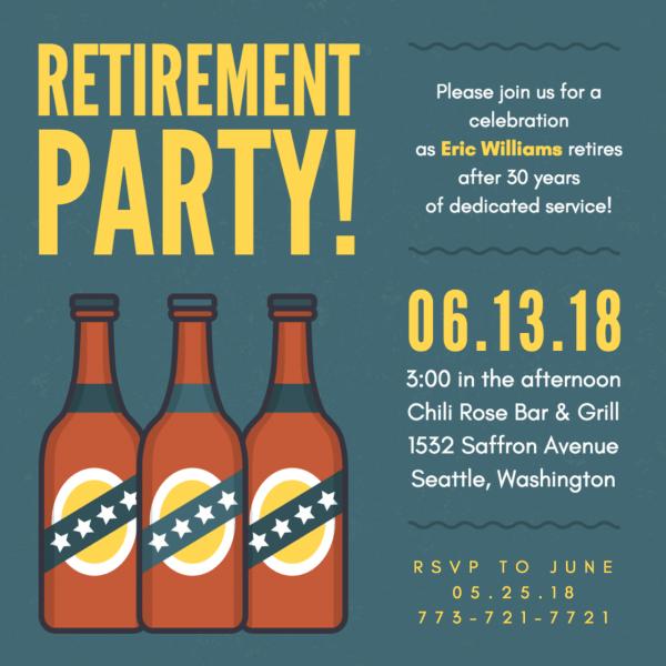 Criar convite para festa de aposentadoria online