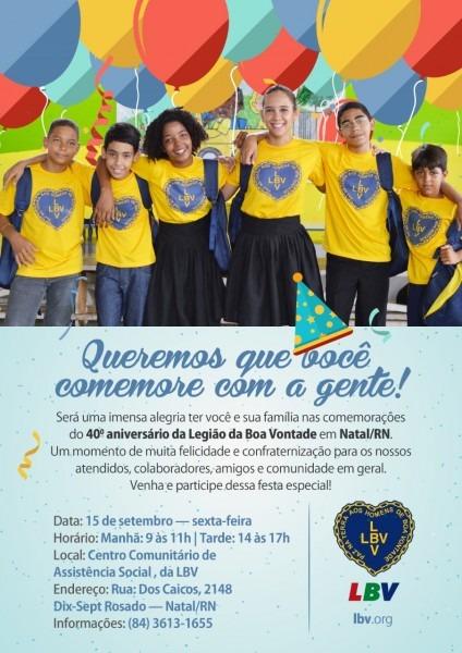 Lbv celebra 40 anos de serviços prestados na capital potiguar
